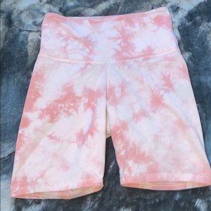 Yoga pink biker shorts